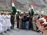 Leh: Victory Flame receives grand reception