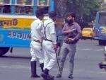 Police enforce Covid-19 protocol in Kolkata