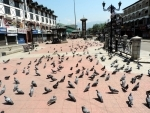 Deserted Lal Chowk in Srinagar amid lockdown
