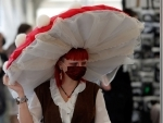 An enthusiast poses during East European Comic Con festival in Bucharest