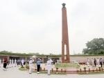 Defence Minister Rajnath Singh pays homage to fallen heroes on Kargil Diwas