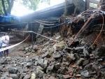 Heavy rains leave bridge collapsed in Sakinaka Marva Road