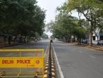 A deserted street in Delhi amid Covid-19 lockdown