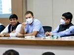 Congress leader Rahul Gandhi attends social media meeting