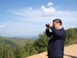 Xi Jinping makes an inspection tour of the Saihanba forest
