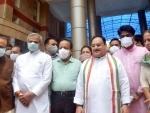 JP Nadda, Harsh Vardhan visit COVID vaccination centre in Delhi hospital