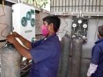 Refilling of oxygen cylinders in Prayagraj