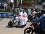 Mamata Banerjee rides e-scooty to Nabanna protesting fuel price hike