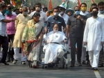 Wheel chair bound Mamata roadshow in Kolkata