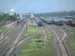 Gance of Agartala Railway station wearing a deserted look during lockdown