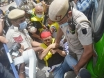 Tibetian Youth Congress activists protest at Chinese embassy in New Delhi, arrested