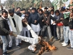 RJD protests against Nitish Kumar in Patna