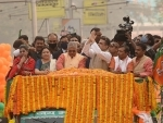In Images: BJP leader Suvendu Adhikari's mega roadshow in Kolkata