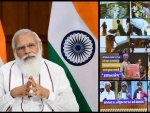 PM Modi interacts with the beneficiaries of PM-GKAY in Gujarat through video conferencing