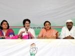 Priyanka Gandhi Vadra addressing press conference in Lucknow