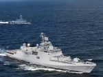 INS Tabar participate in exercise Indra Navy-21