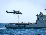 Indian Naval Ship INS Trikand participates in exercise