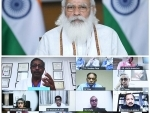 PM Modi interacts with healthcare professionals through video conferencing in Delhi