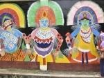 Graffiti on tribal culture in Bihar