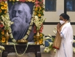 West Bengal CM Mamata Banerjee pays tribute to Rabindranath Tagore