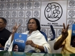 TMC chief Mamata Banerjee releasing poll manifesto in Kolkata