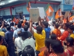 BJP workers protest outside party's election office in Kolkata over candidates' selection