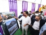 K.T. Rama Rao lays foundation stone for Gokaldas Images Apparel Factory
