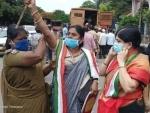 Congress protests against Pegasus in Hyderabad