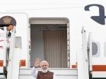 PM Modi boards flight to US