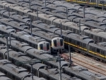Metro trains parked at Timarpur Depot after Delhi Metro services paused for one week