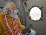 PM Modi takes aerial survey to assess Cyclone Yaas' impact on Odisha, Bengal