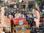 Bengal: Amit Shah holds roadshow in Medinipur