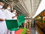 B S Yediyurappa flags off Kisan Rail from Chintamani to Delhi