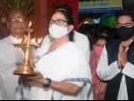 West Bengal: Mamata Banerjee, Abhishek Banerjee offer prayers at temple in Bhabanipur