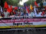 Protests in Kolkata against Sitalkuchi firing