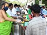 Marakatha Sri Laxmi Ganapati Annaprasadam Trust distributing Annaprasada