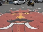 A graffiti in Ranchi depicts alert for Covid third wave
