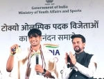 India's Olympic Medalists receive hero's welcome, felicitated by Anurag Thakur