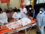Gurudwara Rakab Ganj Sahib: Health workers looking after COVID-19 patient
