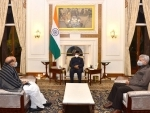 Rajnath Singh, S Jaishankar call on President Kovind