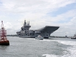 Aircraft Carrier Vikrant during sea trials