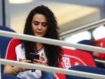 Preity Zinta cheers her team PBKS in IPL 2021