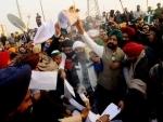 Farmers celebrating Lohri