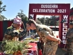 Indian Army, UK personnel celebrate Dussehra during India-UK Joint Military Training Exercise in Ranikhet