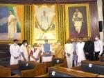 Rajnath Singh, Sonia Gandhi pose for photograph after paying home to Rajiv Gandhi