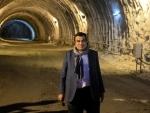 Nitin Gadkari inspects Asia's largest tunnel in Kashmir