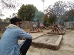 Bodies of Covid-19 victims being cremated at Delhi's Sarai Kale Khan crematorium