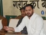 Tejashwi Yadav addresses press conference in Patna