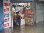 Heavy rain lashes Patna, water enters shop