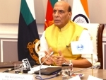 Defence Minister Rajnath Singh speaking at Shanghai Cooperation Organisation webinar